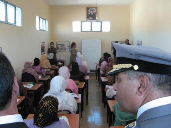 alphabétisation  à Sidi Hazem