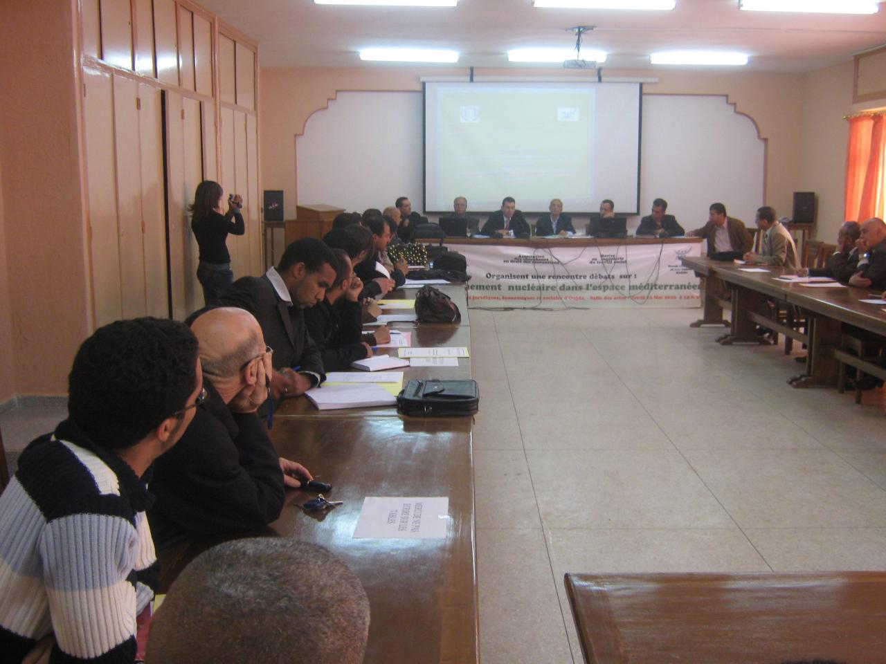 journée débat sur le désarmement nucléaire - Univ.Med1-Oujda